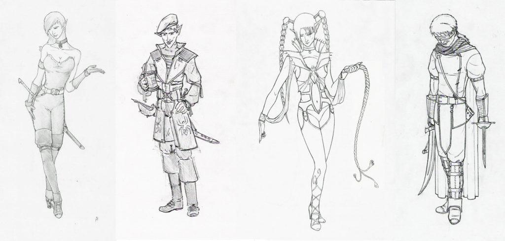 Бродяги Подземья, персонажи