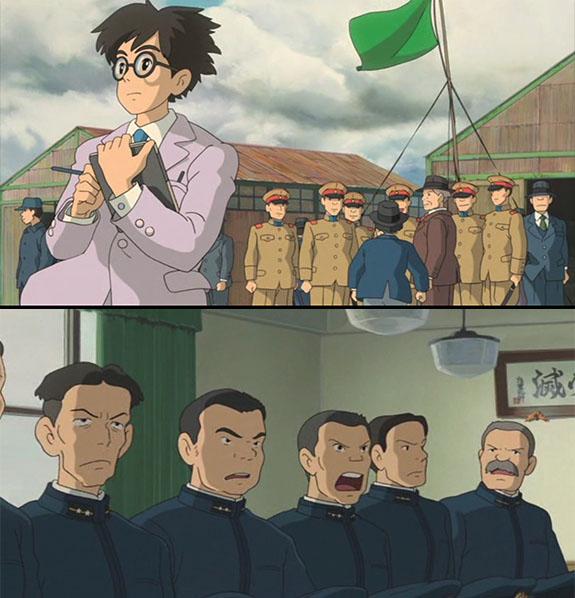 Ветер кречает, Мицубиси, Накадзима