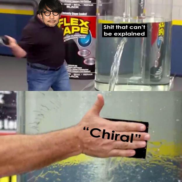 Kojima, chirality
