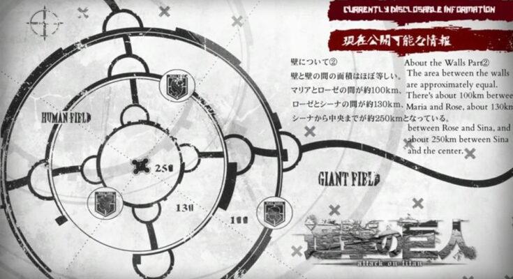 Атака Титанов, стены