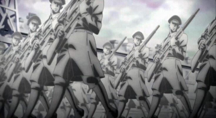 Атака титана, милитаризм