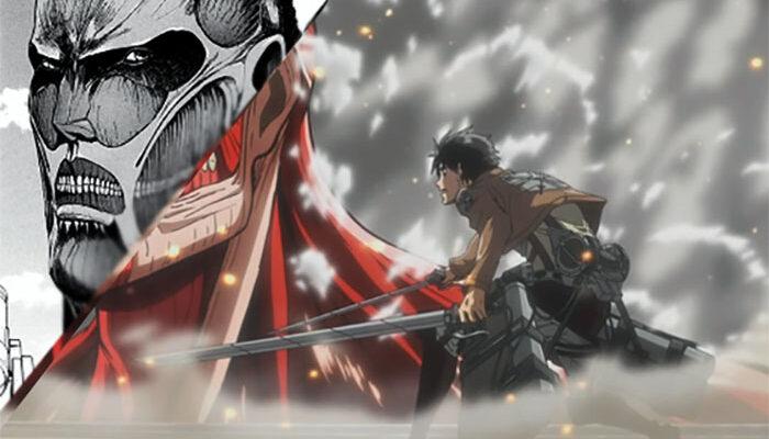 Атака Титанов, аниме против манги